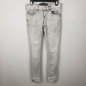Express 0 Stella ankle Skinny low rise jeans gray